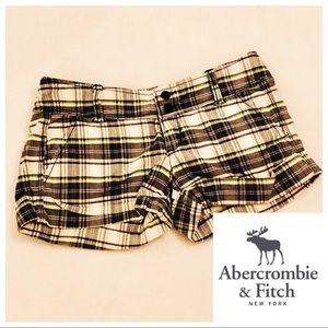 Abercrombie & Fitch Shorts - Abercrombie 00 Preppy Short Shorts Plaid